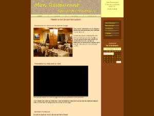 Restaurant - Marron et jaune