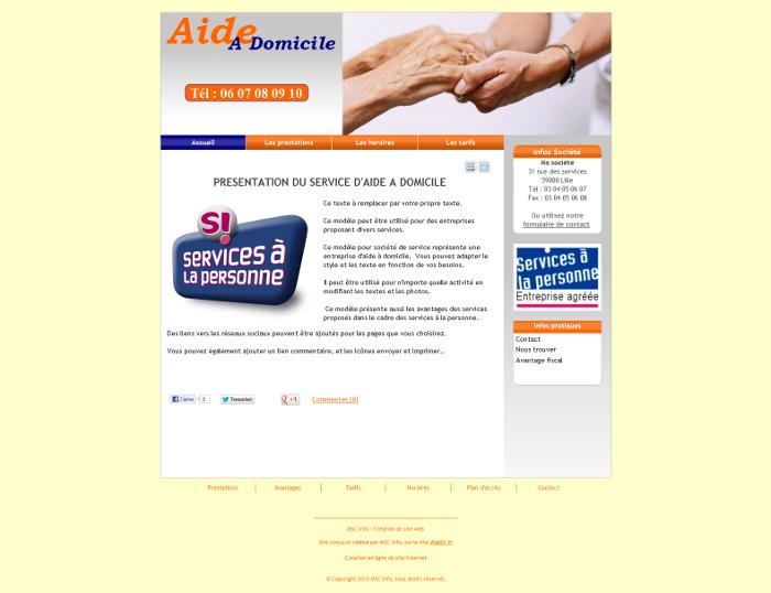 mod u00e8les de sites pour entreprise de services pour cr u00e9er en ligne un site internet gratuitement